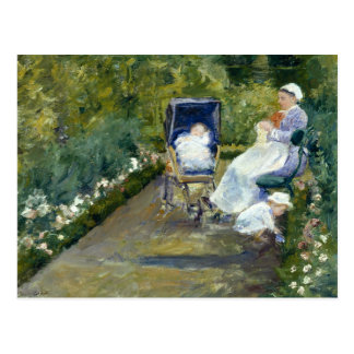 Mary Cassatt - niños en un jardín (la enfermera) Postal