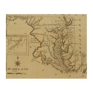 Maryland 5 impresión en madera