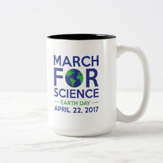 Marzo para la ciencia taza bicolor