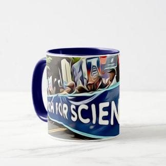 Marzo para la taza de café de la ciencia