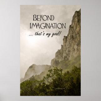 ¡Más allá de la imaginación… que es mi meta! Póster