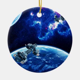 Más allá del azul adorno de navidad