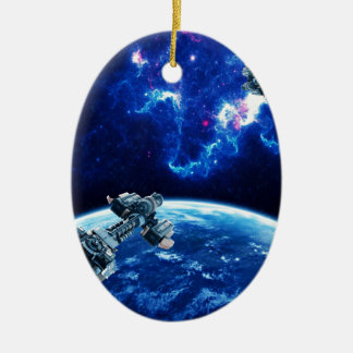 Más allá del azul ornamento para arbol de navidad