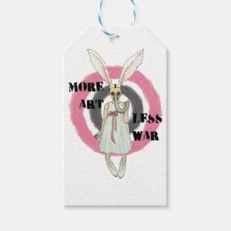 Más arte menos guerra etiquetas para regalos