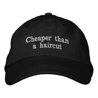 Más barato que un corte de pelo gorras bordadas