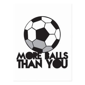 MÁS BOLAS que usted balón de fútbol Postal