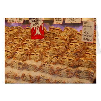 más cangrejos tarjeta de felicitación