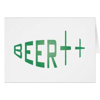 más cerveza tarjeta de felicitación