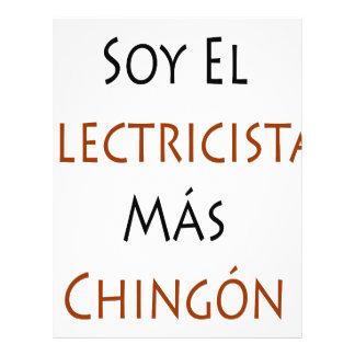 Mas Chingon del EL Electricista de la soja Tarjeta Publicitaria