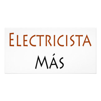Mas Chingon del EL Electricista de la soja Tarjeta Fotografica Personalizada