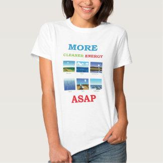 más energía más limpia cuanto antes camisas