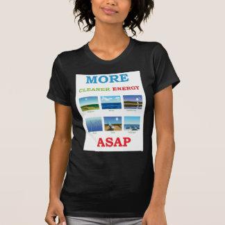 más energía más limpia cuanto antes camiseta