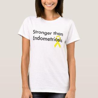 Más fuerte que endometriosis camiseta