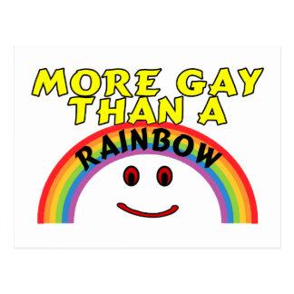 Más gay que un arco iris postal