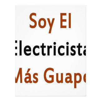 Mas Guapo del EL Electricista de la soja Tarjeta Publicitaria