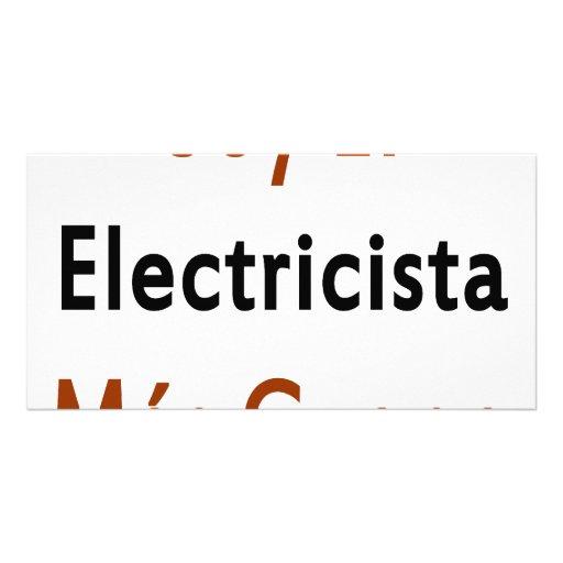Mas Guapo del EL Electricista de la soja Tarjeta Fotográfica