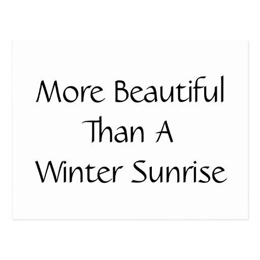 Más hermosa que una salida del sol del invierno. L Postal