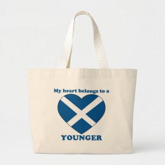 Más joven bolsas lienzo