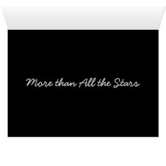 Más que todas las estrellas… tarjeta de felicitación
