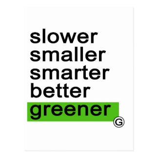 Más verde más elegante más pequeño más lento de Da Postal