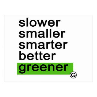 Más verde más elegante más pequeño más lento de Da Tarjetas Postales