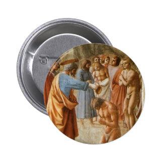 Masaccio: Bautismo de los neófitos Pin