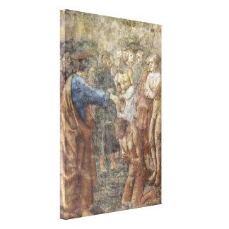 Masaccio - el bautismo de un convertido lona estirada galerías