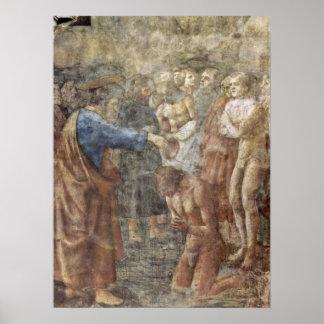 Masaccio - el bautismo de un convertido impresiones