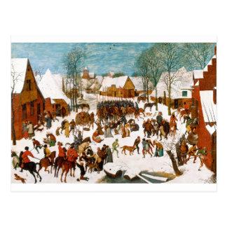 Masacre de los Innocents de Pieter Bruegel Tarjetas Postales