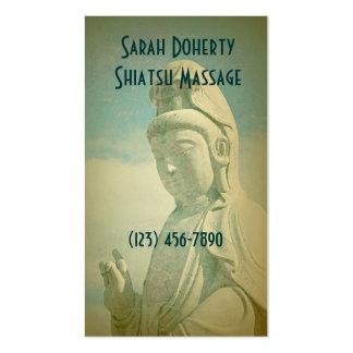 Masaje, balneario o meditación tarjeta de visita