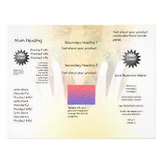 Masaje curativo de las manos folleto 21,6 x 28 cm