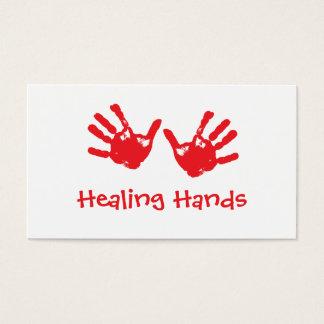 Masaje curativo de las manos - Reiki Tarjeta De Negocios