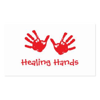 Masaje curativo de las manos - Reiki Tarjetas De Visita