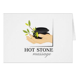 Masaje de piedra caliente tarjeton