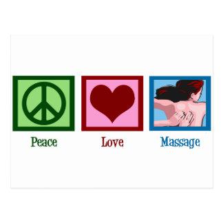 Masaje del amor de la paz postal
