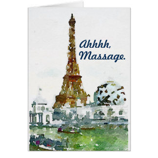 """Masaje - francés para el """"ajuste"""" París de la Tarjeta De Felicitación"""
