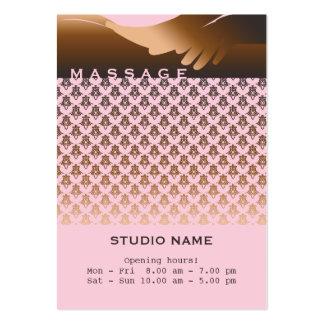 Masaje - tarjeta del negocio/del horario tarjeta de visita