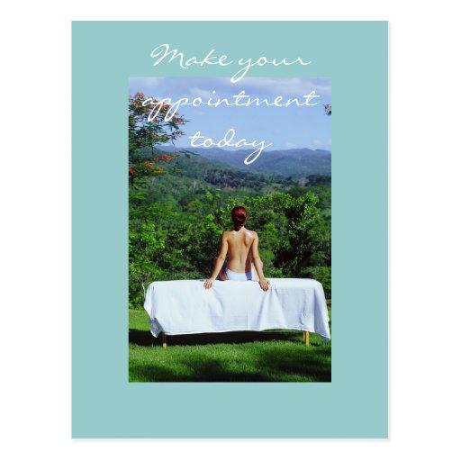 Masaje y fotos de la carrocería tarjetas postales