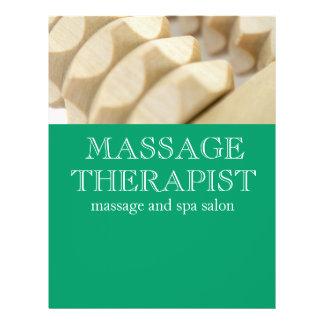 Masaje y terapeuta folleto 21,6 x 28 cm