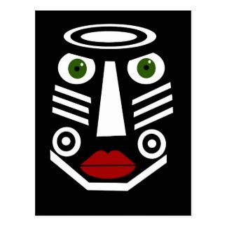 Máscara africana postal