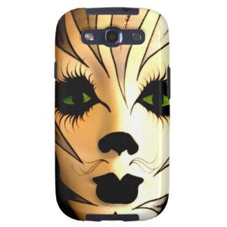 Máscara animal abstracta del gato samsung galaxy s3 protector