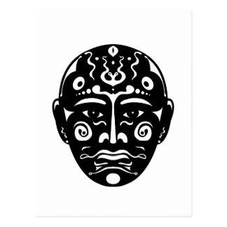 Máscara artística postal