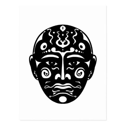 Máscara artística tarjetas postales