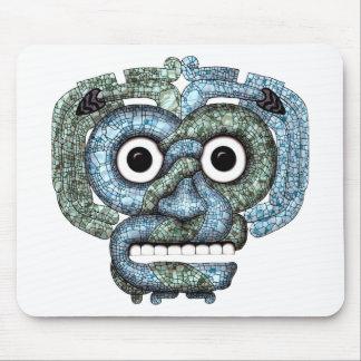 Máscara azteca de Tlaloc del mosaico Alfombrilla De Ratón