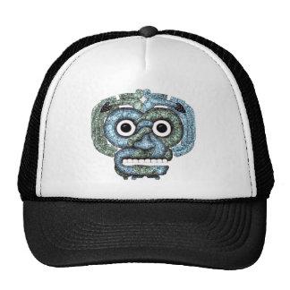 Máscara azteca de Tlaloc del mosaico Gorro De Camionero