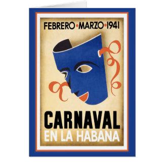Máscara azul para Carnaval Felicitacion