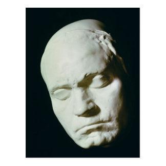Máscara de Beethoven, tomada a partir de vida a la Postal