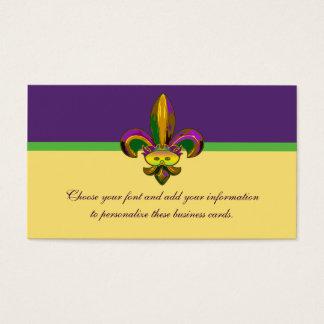 Máscara de la flor de lis tarjeta de visita