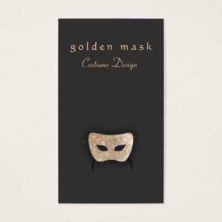 Máscara de la lentejuela del oro de las artes tarjeta de visita