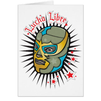 Máscara de lucha mexicana de Lucha Libre Tarjeta De Felicitación